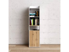 Knihovna Felix bílá/oak