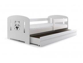 Postel Filip 80x160 bílá/kočička