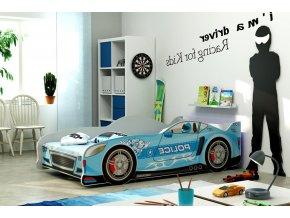 Postel Cars 80x160 modrá