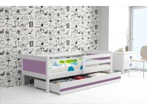Postel Rino 80x190 bílá/fialová