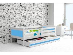 Postel Rino 80x190 bílá/modrá