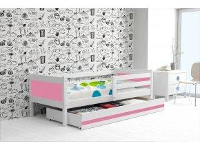 Postel Rino 80x190 bílá/růžová