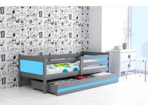 Postel Rino 80x190 grafit/modrá
