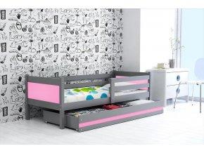Postel Rino 80x190 grafit/růžová
