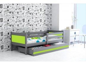 Postel Rino 80x190 grafit/zelená