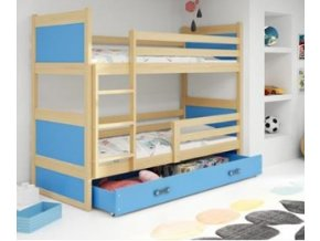 patrová postel Rico modrá