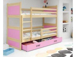 patrová postel Rico růžová