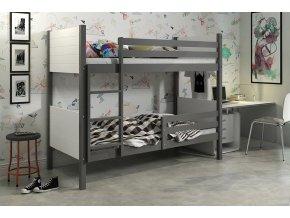 Patrová postel Clir grafit/bílá