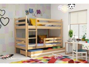 Patrová postel Eryk borovice