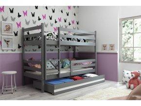 Patrová postel Eryk grafit