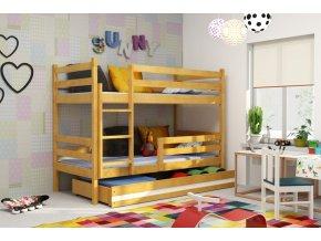 Patrová postel Eryk olše