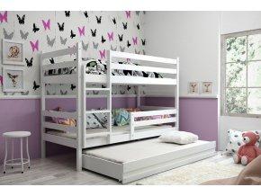 Patrová postel s přistýlkou Eryk bílá