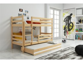 Patrová postel s přistýlkou Eryk borovice
