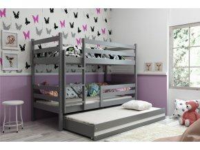 Patrová postel s přistýlkou Eryk grafit