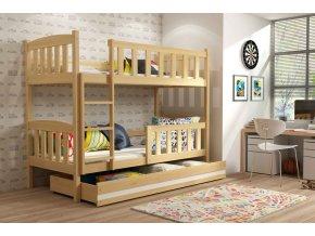 Patrová postel Kubus borovice
