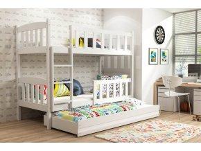 Patrová postel s přistýlkou Kubus bílá