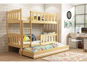 Patrová postel s přistýlkou Kubus borovice
