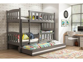 Patrová postel s přistýlkou Kubus grafit