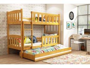 Patrová postel s přistýlkou Kubus olše