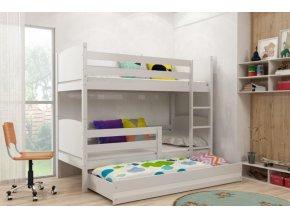Patrová postel s přistýlkou Tami bílá