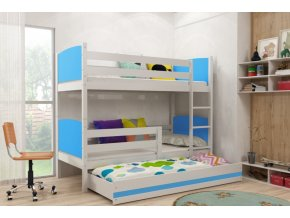 Patrová postel s přistýlkou Tami bílá/modrá