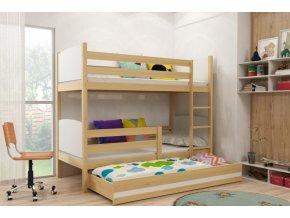 Patrová postel s přistýlkou Tami borovice/bílá