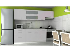 Kuchyňská linka Dakota 180/240 šedý lesk
