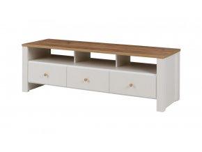 TV stolek Bert 5 dub zlatý/crem