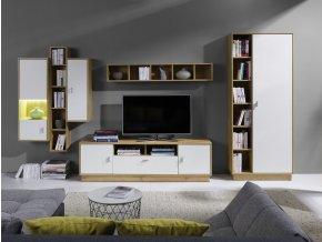 Obývací stěna Patrik 4 dub lefkas/bílá