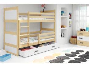 Patrová postel Riky borovice/bílá