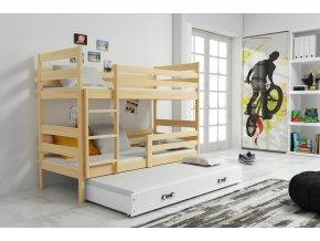 Patrová postel s přistýlkou Norbert borovice/bílá