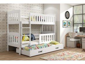 Patrová postel s přistýlkou Kuba bílá