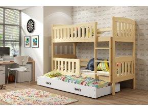 Patrová postel s přistýlkou Kuba borovice