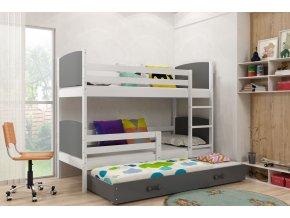 Patrová postel s přistýlkou Tamita bílá/grafit