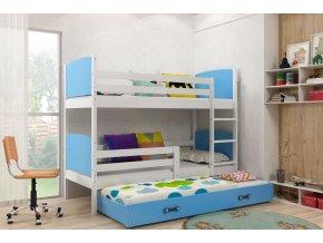 Patrová postel s přistýlkou Tamita bílá/modrá