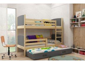 Patrová postel s přistýlkou Tamita borovice/grafit