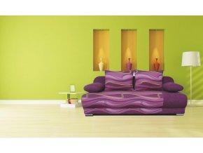 Futon fialová vlnky