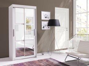 Skříň Karuba 100 bílá/zrcadlo