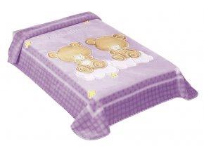 Španělská deka 548 - fialová, 80 x 110 cm