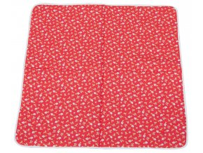 Hrací deka Scarlett PINA - červená, 146 x 146 cm