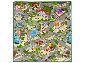 Scarlett dětský kobereček CITY & MAPA - 120 x 100 cm