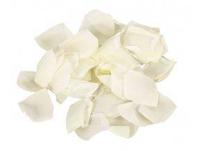 Květy růže v polybagu..cream