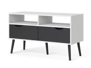 TV stolek Retro 383 bílá/černá