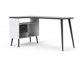 Psací stůl Retro 450 bílá/černá