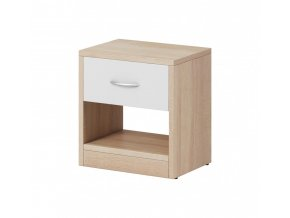 Noční stolek Izzy 1s dub sonoma/bílá