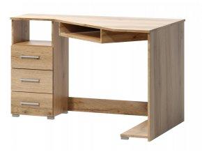 Rohový psací stůl Fatra dub wotan