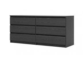 Komoda Simplicity 296 woodgrain černá