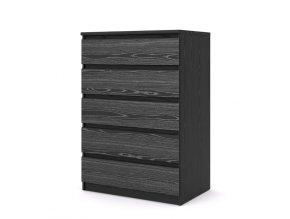 Komoda Simplicity 297 woodgrain černá