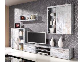 Obývací stěna Samir bílá borovice