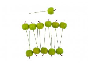 Sada jablíček s drátkem - zelené. Cena za 1 polybag